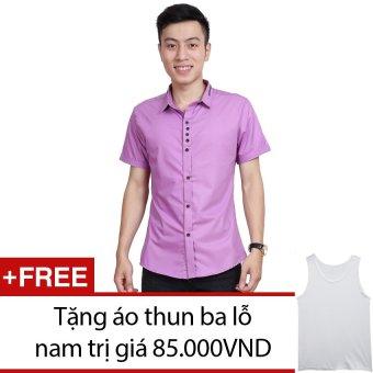 Áo Sơ Mi Nam Ngắn Tay SoYoung MEN SO MI 009C LTP + Tặng 1 áo thun ba lỗ nam