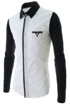 Reverieuomo CS30 Long Sleeves Single Breasted Shirt White - Intl
