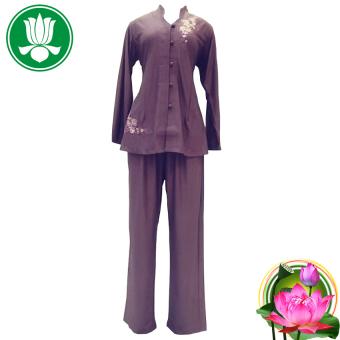 Bộ 1 áo và 1 quần pháp phục Phật tử nữ (Tím)