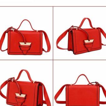 Túi da khóa tam giác (Màu ĐỎ)