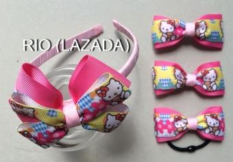 Bộ phụ kiện tóc handmade dành cho bé gái - rio 04.
