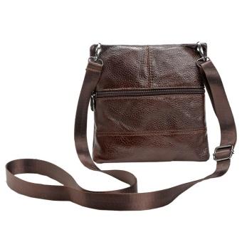 Men Leather Messenger Causal travel Business Crossboby Shoulder Bag - intl
