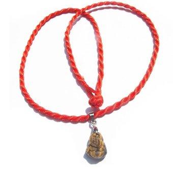 Vòng Cổ Phật Cầu Bình An Cho Bé Đá Tiger Opal