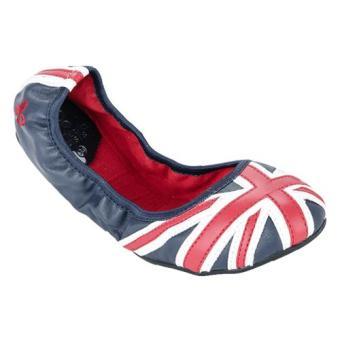 Giày Búp Bê Butterfly JACQUI W/O STUDS (Đỏ-Trắng-Xanh)