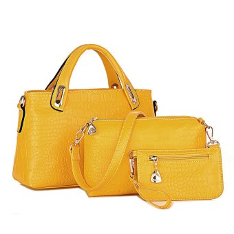 Women Handbag Shoulder Bags Tote Purse Leather Ladies Messenger Hobo Bag Yellow