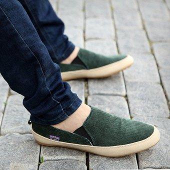 Giày lười nam VS51 (Xanh lá)