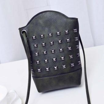 Women Messenger Bags Slim Rivet Crossbody Shoulder Bags Handbag Small Body Bags - intl
