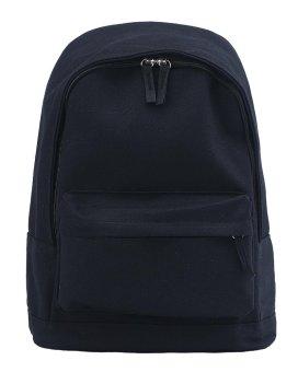 niceEshop Unisex Casual Shoulder Bag Solid Color Backpack (Black, Canvas) - intl
