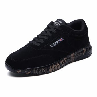 Jarma man's skate sneakers younger students school shoes male shoes (Black) - intl