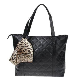 Women Handbag Spring PU Leather Bags Messenger Bag Black - Intl