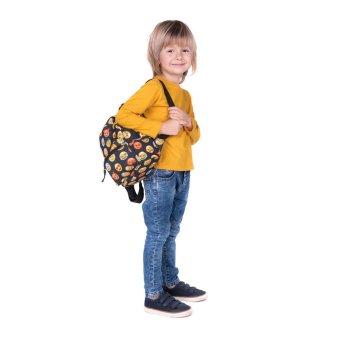 Child Print Rucksack Mini Backpack School Bag Book Shoulder Bag Black - intl