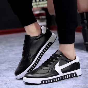 Giày Sneaker Nam Rozalo RMG4129BW-Đen Trắng.