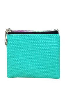 HKS Women Fashion Leather Wallet Sky blue - intl