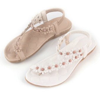 OH Summer Fashion Women Casual Floral Flat Shoes Beach Sandals Slippers Shoes 36 - Intl - intl