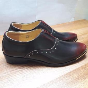 Giày lười nam công sở đỏ khóa