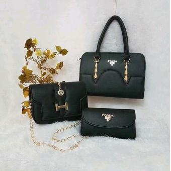 Bộ 3 túi xách cao cấp (đen)