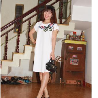 Đầm bầu thiết kế Lê Dương
