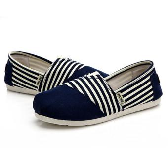 Giày nữ bánh mì kiểu dán đơn giản cá tính cho nàng tung tăng -158 (Xanh)