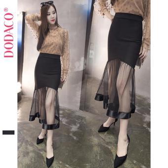 Chân Váy Ngắn Nữ Chân Váy Ren Phong Cách Hàn Quốc Thời Trang DODACO DDC1887 DE VNU S - XL 5312 (Đen)