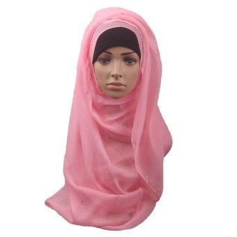 Fashion Muslim Women Shawl Scarf Head Cover Headscarf Muffler Pink