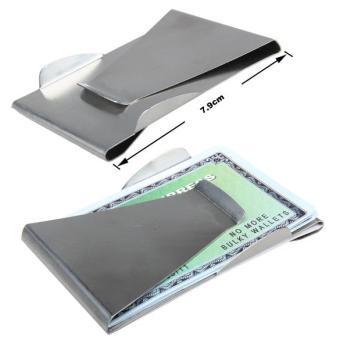 Hot Slim Money Clip Credit Card Holder Unisex Double Sided Holder Wallet (Intl)
