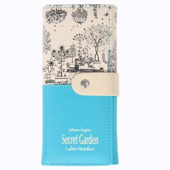 2016 secret garden PU wallet women purse(blue) (Intl)