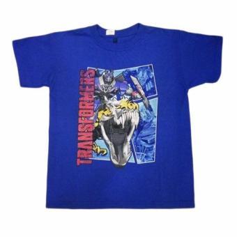 Áo thun tay ngắn thời trang Transformers bé trai
