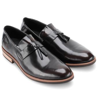 Giày tây nam da bò thật MB863 (Đen)