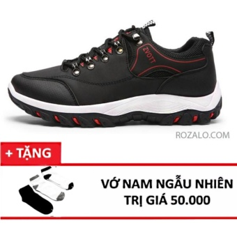 Giày thể thao nam Sportmax SMG68866ZVOTTBL -Màu đen + Tặng 1 đôi tất ,vớ