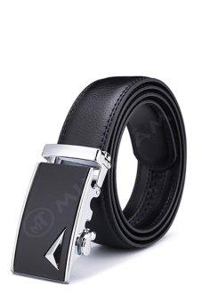 Thắt lưng da nam cao cấp Minh Tâm MT10626 (Đen bạc)