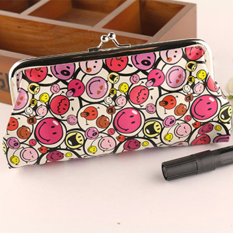 Women Lovely Style Lady Wallet Hasp Smile Purse Clutch Bag Red - Intl