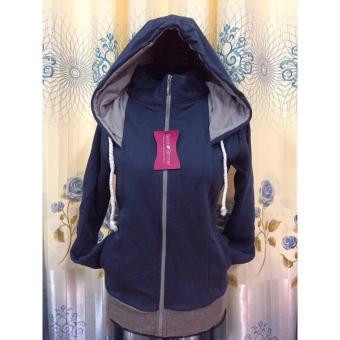 áo nỉ nữ - áo khoác hoodie nữ - áo nỉ nữ đẹp - áo khoác nỉ nữ -new(xanh đen)
