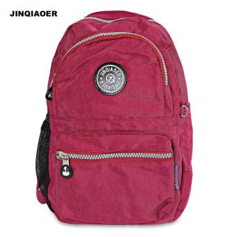 JINQIAOER Casual Convertible Canvas Backpack for Women - intl