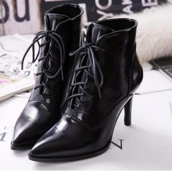 Giày boot nữ da mũi nhọn sang trọng