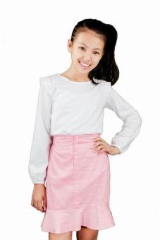 Áo Thun Tay Dài, Cánh Tiên Genii Kids (Trắng)