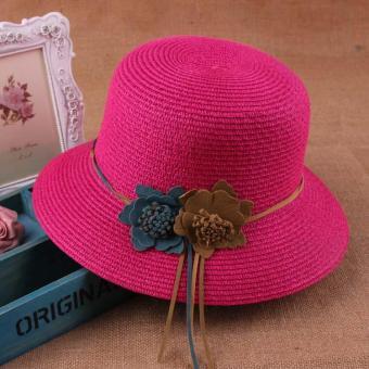 Nón nữ kiểu panama thời trang Flancoo 9775 (Hồng sen)