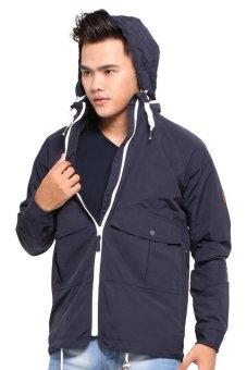 Native Youth Zip Collar Rain Coat (Navy)