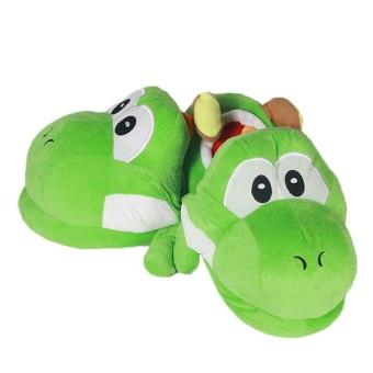 Nintendo Super Mario Brothers Yoshi Adult Plush Slipper One Pair Green Home Gift - intl