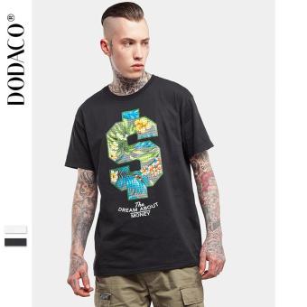 Áo Thun Cho Nam Áo T-Shirt Cổ Tròn Tay Ngắn Áo In Hoa Hình $ Phong Cách TATTOO Thời Trang DODACO DDC1891 DE ANA S - XXL 0135S17 (Đen)