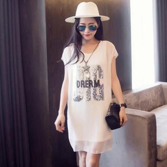 Đầm (váy) bầu voan DREAM BIG TPO-2106 (Trắng)