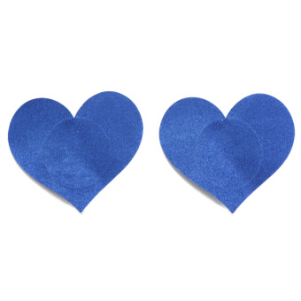 Disposable Sexy Love Heart Adhesive Breast Nipple Cover (Blue) - Intl
