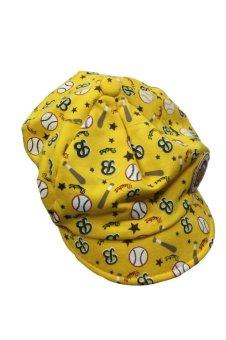 Peaked Baseball Beret Cap Yellow