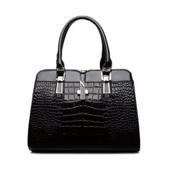Túi xách nữ vân cá sấu Sodoha SWT36659BL - Màu đen