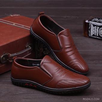 Giày lười da nam ZANI ZMG5229N-Nâu