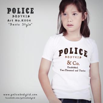 Áo thun trẻ em Police Bodykid nhập khẩu Thái Lan K004 (Trắng)