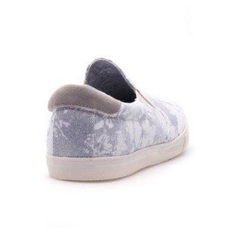 Giày lười nam Aqua Sportswear M1221 (Trắng họa tiết)
