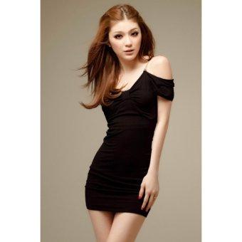 Đầm ôm body dây trễ vai gợi cảm KMF