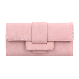 Soft PU Leather Women Hasp Wallet Fashion Tri-Folds Clutch Coin Purse Card - intl