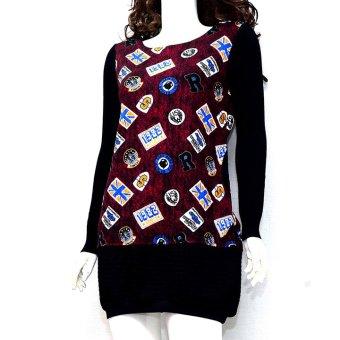 Áo sweater dáng dài MiDu Fashion (Tím)