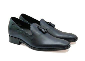Giày tăng chiều cao nam đế da, cao 6 cm Manaroda HN 942 (Xanh Đen)